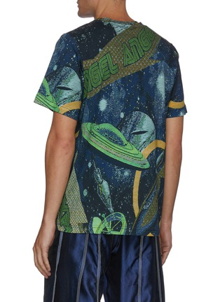 Back View - Click To Enlarge - ANGEL CHEN - 'Universe' mixed print T-shirt