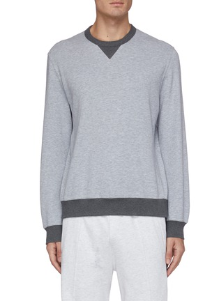 Main View - Click To Enlarge - BRUNELLO CUCINELLI - Contrast rib sweatshirt