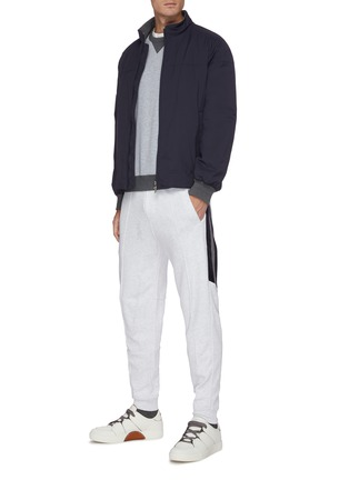 Figure View - Click To Enlarge - BRUNELLO CUCINELLI - Contrast rib sweatshirt