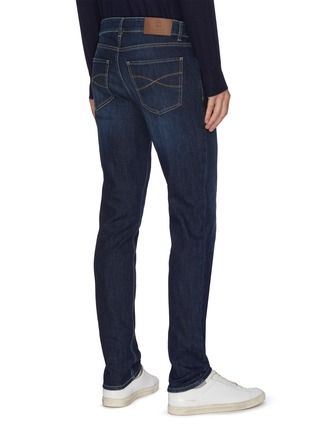 Back View - Click To Enlarge - BRUNELLO CUCINELLI - Dark wash traditional fit jeans