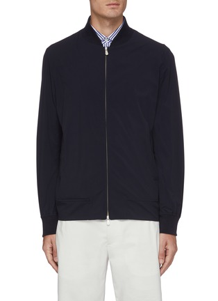 Main View - Click To Enlarge - BRUNELLO CUCINELLI - Reversible zip front bomber jacket