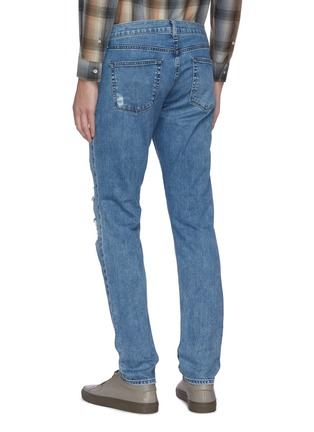 Back View - Click To Enlarge - J BRAND - 'Tyler' medium wash ripped knee jeans