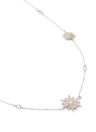 Detail View - Click To Enlarge - CZ BY KENNETH JAY LANE - Starburst cubic zirconia station necklace