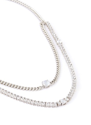 Detail View - Click To Enlarge - CZ BY KENNETH JAY LANE - Cubic zirconia layered link chain necklace