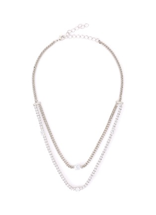 Main View - Click To Enlarge - CZ BY KENNETH JAY LANE - Cubic zirconia layered link chain necklace