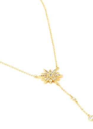 Detail View - Click To Enlarge - CZ BY KENNETH JAY LANE - Starburst cubic zirconia necklace