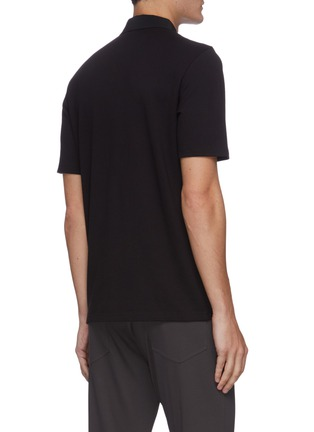 Back View - Click To Enlarge - THEORY - Pima cotton blend polo shirt