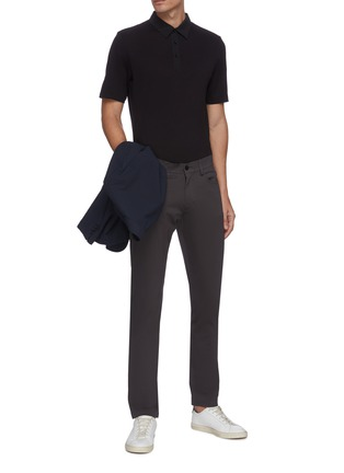 Figure View - Click To Enlarge - THEORY - Pima cotton blend polo shirt