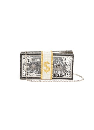 Main View - Click To Enlarge - JUDITH LEIBER - Billion Stack of Cash crystal pavé clutch