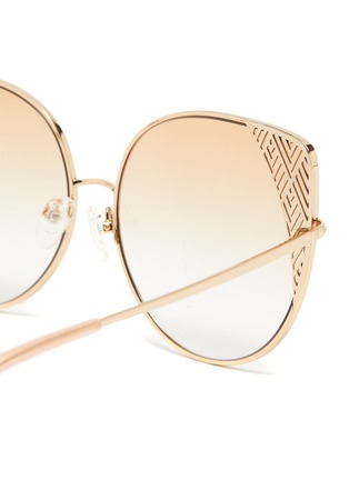 Detail View - Click To Enlarge - MATTHEW WILLIAMSON - Metal frame cat eye sunglasses