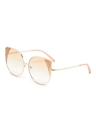 Main View - Click To Enlarge - MATTHEW WILLIAMSON - Metal frame cat eye sunglasses
