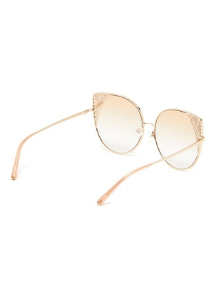 Figure View - Click To Enlarge - MATTHEW WILLIAMSON - Metal frame cat eye sunglasses