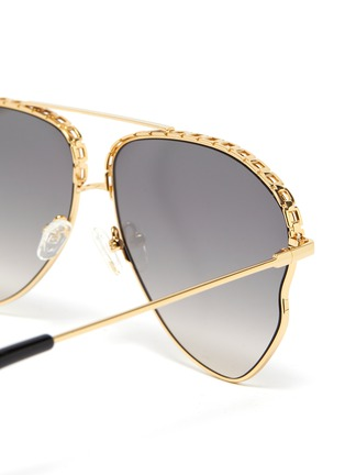 Detail View - Click To Enlarge - MATTHEW WILLIAMSON - Chain element irregular metal frame aviator sunglasses
