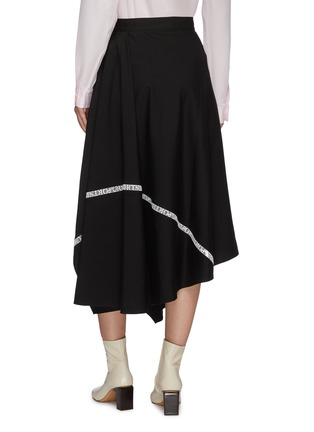 Back View - Click To Enlarge - PORTSPURE - Logo tape trim asymmetric handkerchief skirt