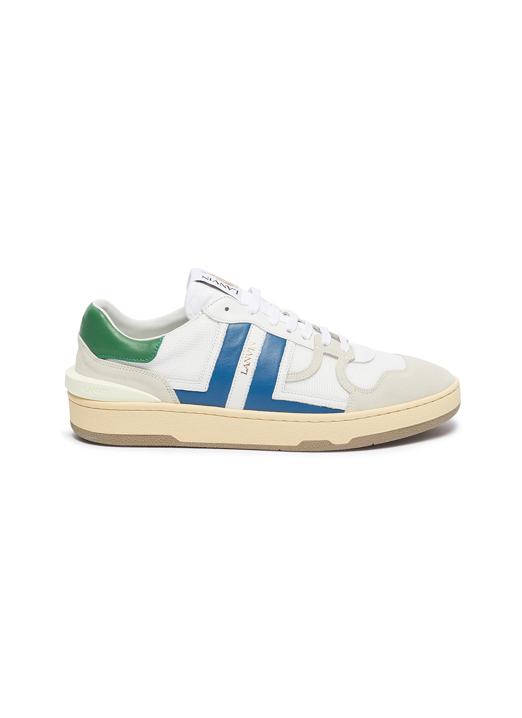 Lanvin COLOURBLOCK LEATHER PANEL LOW TOP SNEAKERS