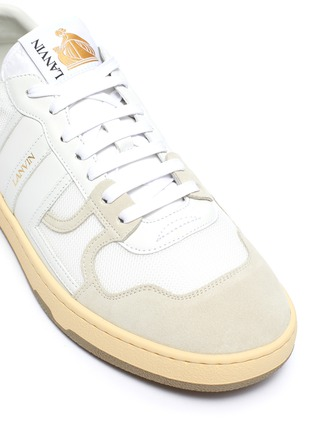 Detail View - Click To Enlarge - LANVIN - Suede panel low top tennis sneakers