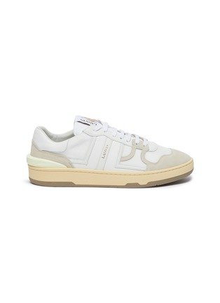Main View - Click To Enlarge - LANVIN - Suede panel low top tennis sneakers
