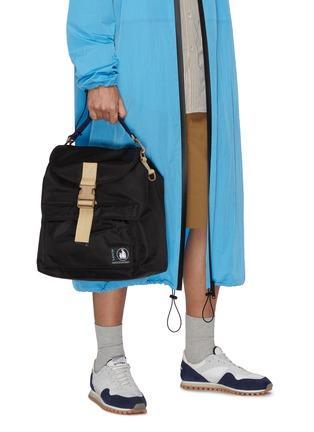 Figure View - Click To Enlarge - LANVIN - Duvet' nylon backpack