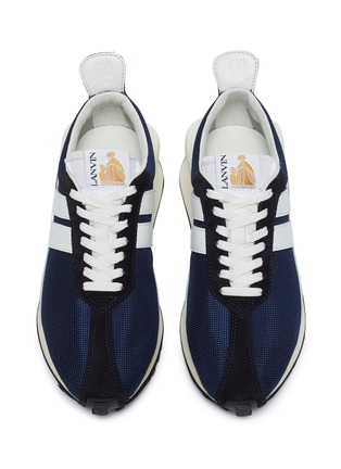 Detail View - Click To Enlarge - LANVIN - Suede panel running sneakers