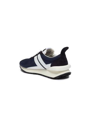 - LANVIN - Suede panel running sneakers