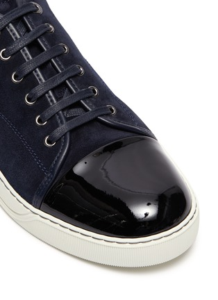 Detail View - Click To Enlarge - LANVIN - Suede leather low top sneakers
