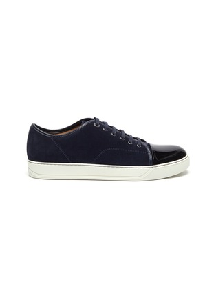 Main View - Click To Enlarge - LANVIN - Suede leather low top sneakers