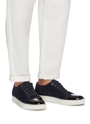 Figure View - Click To Enlarge - LANVIN - Suede leather low top sneakers
