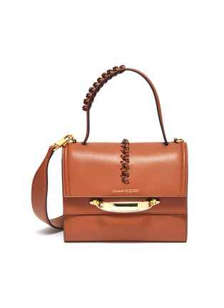 Main View - Click To Enlarge - ALEXANDER MCQUEEN - 'THE STORY' STITCH DETAIL LEATHER SHOULDER BAG