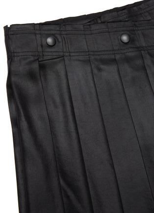 - ACNE STUDIOS - Wrap front pleated satin midi skirt