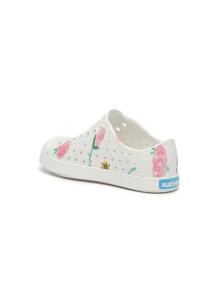 Detail View - Click To Enlarge - NATIVE - 'Jefferson' flower and bee print perforated toddler slip-on sneakers