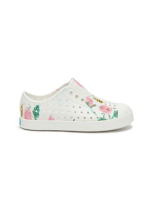 Main View - Click To Enlarge - NATIVE - 'Jefferson' flower and bee print perforated toddler slip-on sneakers