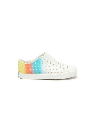 Main View - Click To Enlarge - NATIVE - 'Jefferson' ombré perforated toddler slip-on sneakers