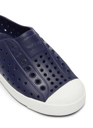 Detail View - Click To Enlarge - NATIVE - 'Jefferson' perforated toddler slip-on sneakers