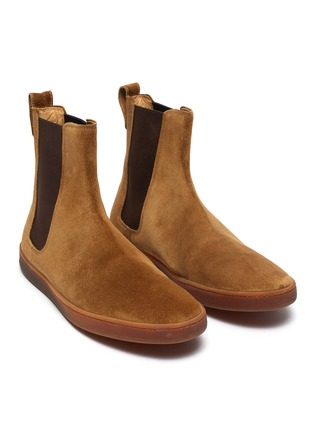 Detail View - Click To Enlarge - HENDERSON - Briac gum sole suede Chelsea boots
