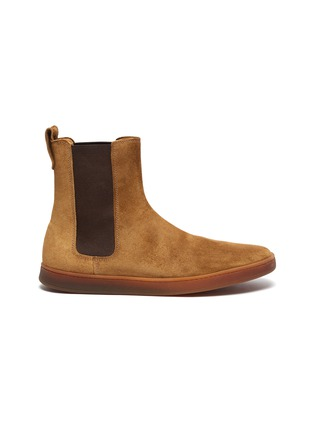 Main View - Click To Enlarge - HENDERSON - Briac gum sole suede Chelsea boots