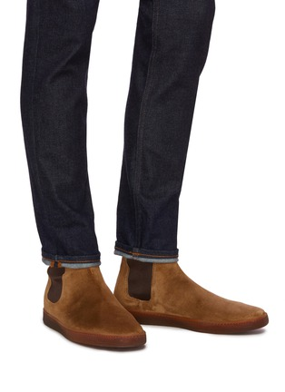 Figure View - Click To Enlarge - HENDERSON - Briac gum sole suede Chelsea boots