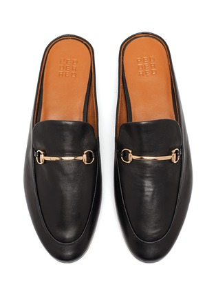 Detail View - Click To Enlarge - PEDDER RED - Ruth horsebeit leather slip on loafers