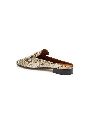 - PEDDER RED - Ruth horsebit snake embossed leather slip on loafers