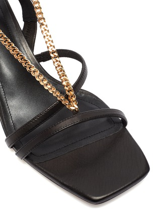 Detail View - Click To Enlarge - PEDDER RED - Ava chain detail strappy slingback heel leather sandals