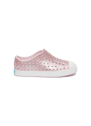 Main View - Click To Enlarge - NATIVE - Jefferson perforated kids slip-on sneakers