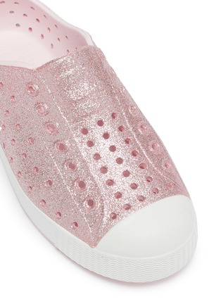 Detail View - Click To Enlarge - NATIVE - Jefferson perforated toddler slip-on sneakers