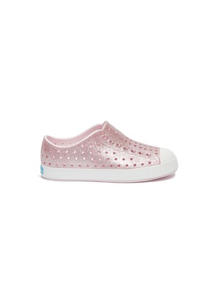 Main View - Click To Enlarge - NATIVE - Jefferson perforated toddler slip-on sneakers