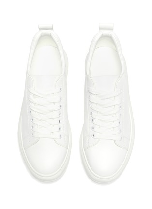 Detail View - Click To Enlarge - PEDDER RED - Megan contrast tab chunky outsole leather sneakers