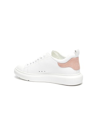 - PEDDER RED - Megan contrast tab chunky outsole leather sneakers