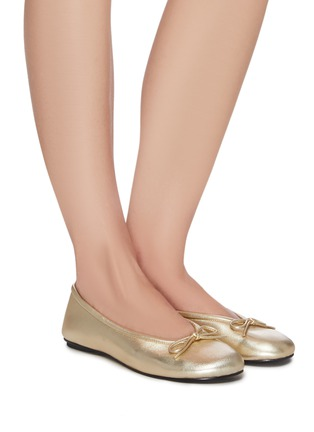 Figure View - Click To Enlarge - PEDDER RED - 'Jolisa' bow leather ballerina flats