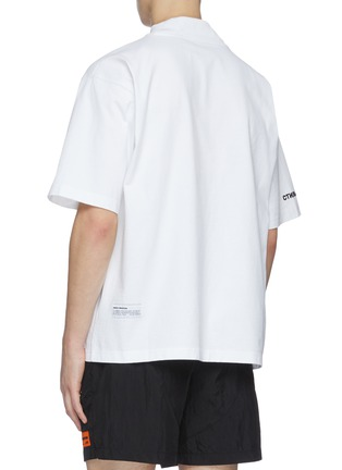 Back View - Click To Enlarge - HERON PRESTON - CTNMB embroidered turtleneck T-shirt