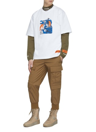 Figure View - Click To Enlarge - HERON PRESTON - Graphic print logo patch T-shirt