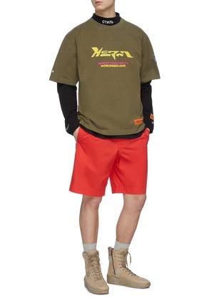 Figure View - Click To Enlarge - HERON PRESTON - Techno logo print cotton T-shirt