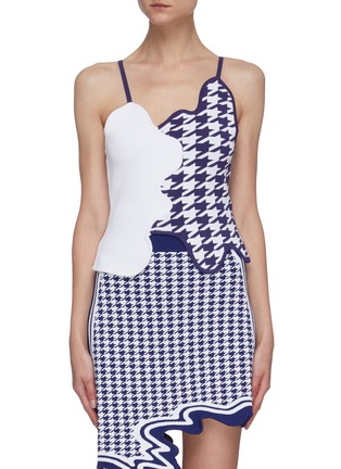 Main View - Click To Enlarge - PH5 - Titus houndstooth curve sleeveless tank top