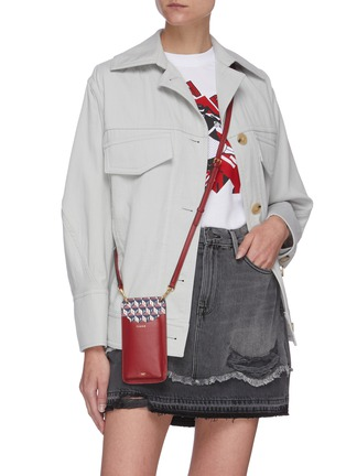 Figure View - Click To Enlarge - ANYA HINDMARCH - I Am A Plastic Bag phone pouch